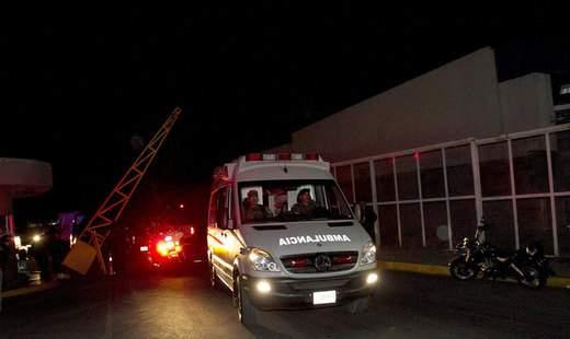 В Мексике мощный пожар возник на химзаводе