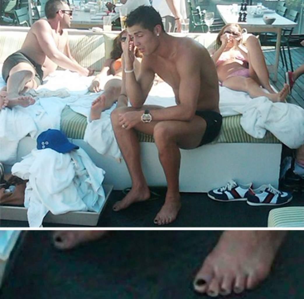 Криштиану Роналду ходил в Маями с накрашеными ногтями