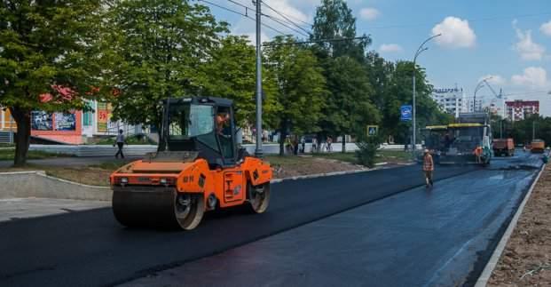 В Харькове продолжают капитальный ремонт проспекта Победы