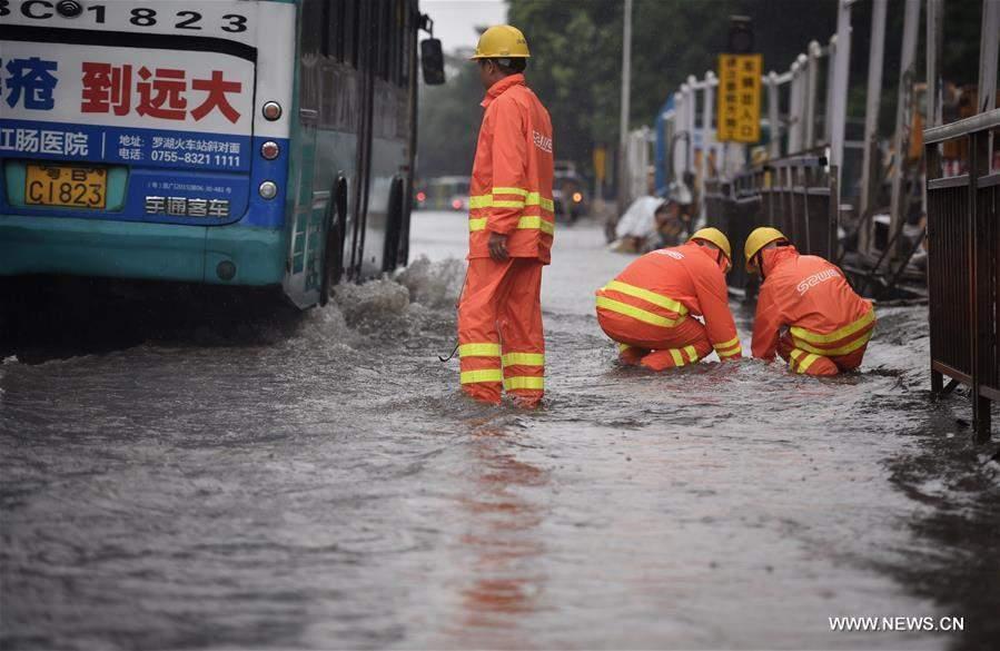 Обнародованы фотографии последствий тайфуна Нида в Китае