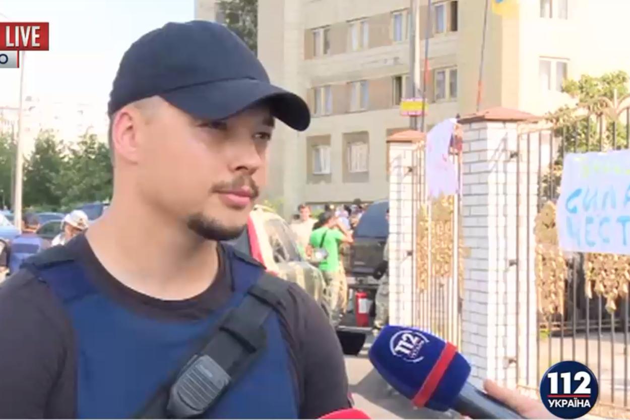 Пикет Оболонского районного суда Киева патрулирует 30 полицейских