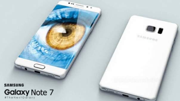 Samsung Galaxy Note 7 обладает функцией сканирования радужной оболочки глаз