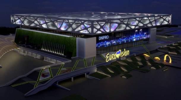 В Днепре презентовали проект арены для Евровидения