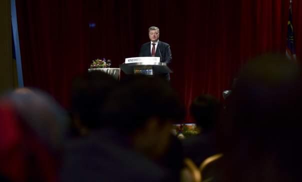 На бизнес-форуме в Малайзии Порошенко призвал инвестировать в Украину