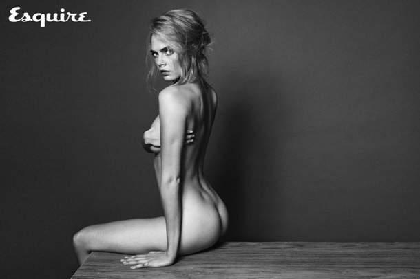 Кара Делевинь разделась для сентябрського номера журнала Esquire