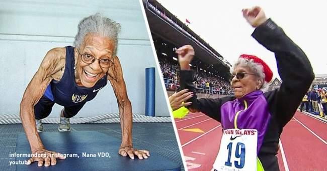 100-летняя женщина стала рекордсменкой по бегу