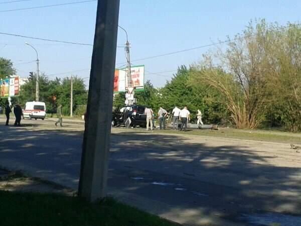 Видео с места взрыва автомобиля Плотницкого в ЛНР