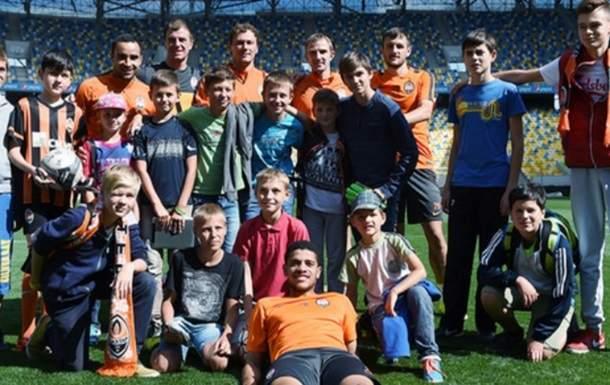 Горняки провели тренировку с детьми на Арене Львов