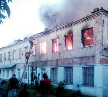 В Винницкой области горело жилое здание