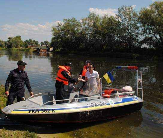 В Киевской области стартовала работа группы реагирования патрульной полиции на воде