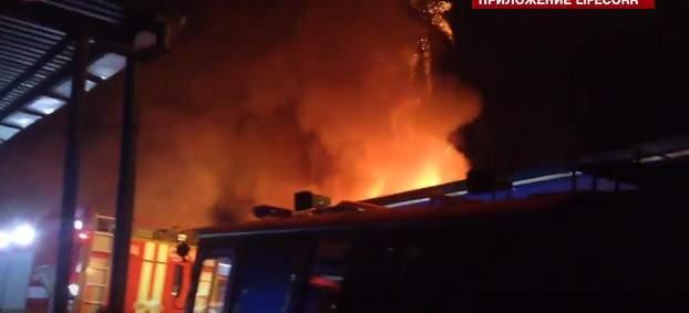 В России загорелся склад с феерверками