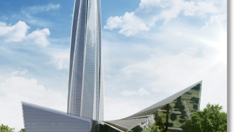 Силуэт «Лахта Центра» станет новым символом Санкт-Петербурга.