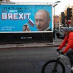 В центре Лондона появились плакаты с Путиным