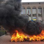 Жители Кривого Рога подожгли шины из-за отсутствия отопления