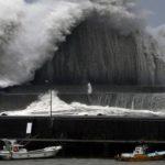 В Японии продолжает свирепствовать тайфун Факсай